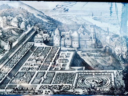Heidelberger Schloss, alte Ansicht