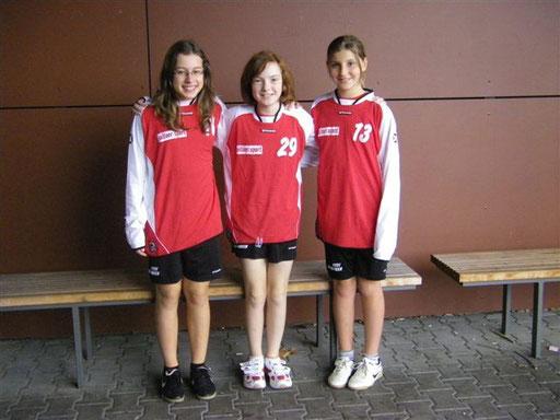 Unsere Oberfrankenauswahlspielerinnen Lea, Franzi, Sarah