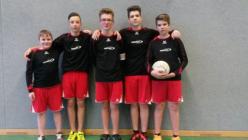 von links: Jonathan Lang, Johann Schneider, Jonas Dietel, Lukas und Jakob Dengler