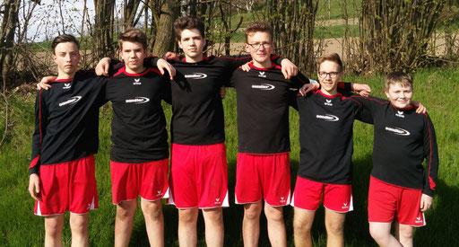 von links.: Johann Schneider, Jakob und Lukas Dengler, Jonas Dietel, Tim Schubert und Jonathan Lang