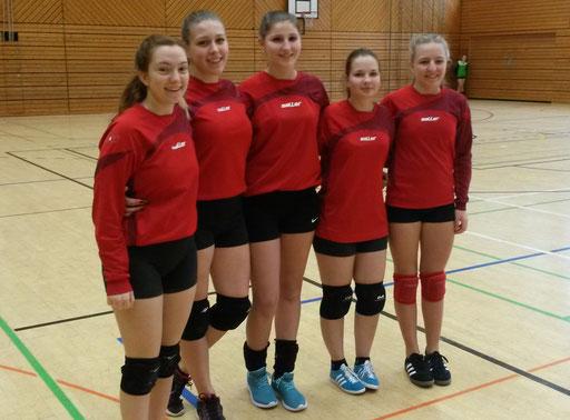 von links: Franziska Dietel, Hanna Dietel, Sarah Schnabel, Emma Schneider und Leonie Sturm