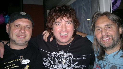 Uwe, Pete & Micha, aber wo ist der Drummer?