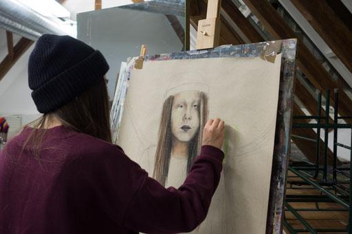 Kunstwerk aus der Talentschmiede 2016-17, LichtwarkSchule. Fotonachweis: LichtwarkSchule, Dr. Reimar Palte