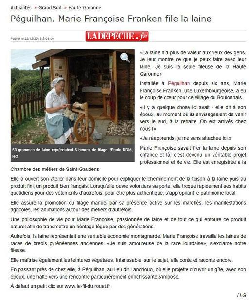 La Dépeche du du Midi - Comminges publication le 22 décembre 2013