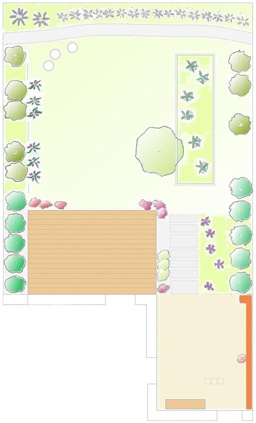 Stadtgarten mit Innenhof