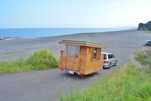 タイニーハウスジャパン 関東ツアー七里御浜到着