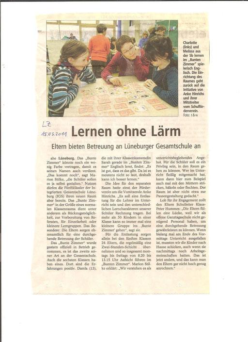 Landeszeitung vom 15.03.2011