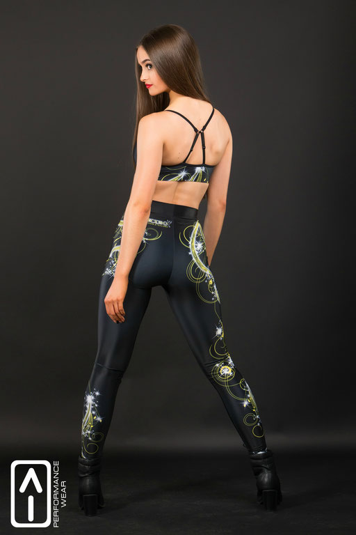 High waist Performance leggings & Sports Crop