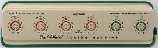 Sterling nº 568 DIAL-A-MATIC Adding Machine, con mecanismo de puesta a cero, año 1956, 29x9x3 cm