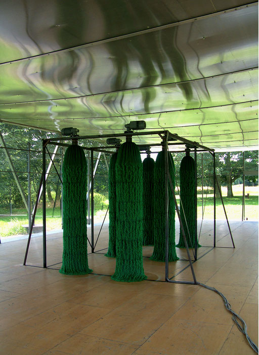 hain lässt revue passieren, 3min aktiv - 2min stillstand, loop, Wewerka Pavillon, Münster 2004