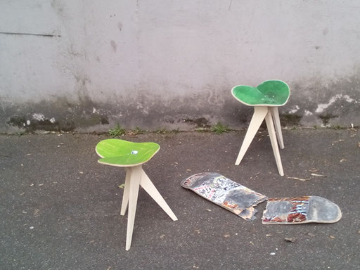 skateboard recycling skateboard furniture upcycling. Black Bedroom Furniture Sets. Home Design Ideas
