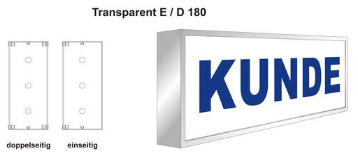 Transparent / Leuchtkasten mit Acrylglasscheibe