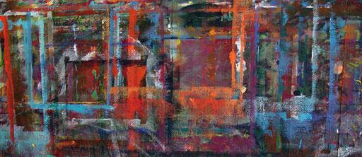 Bild: Malwand im Atelier Neuhauserstadel Institut Hartheim - Stipendium des Bundesministerium für Unterricht, Kunst und Kuntur 1.11.2016-30.4.2017 -  Angelika Windegger