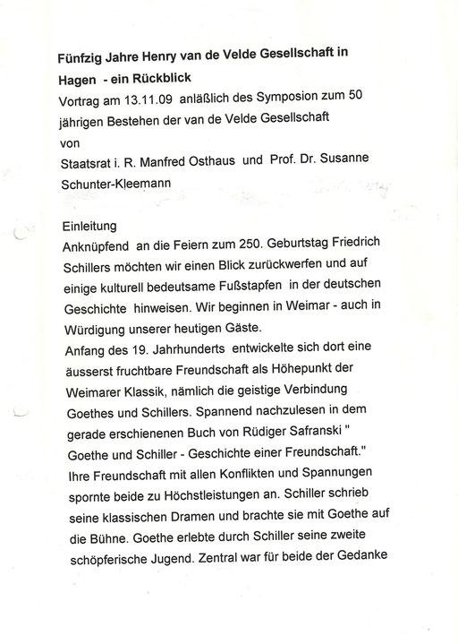 """50 Jahre """"Henry van de Velde- Gesellschaft 2"""