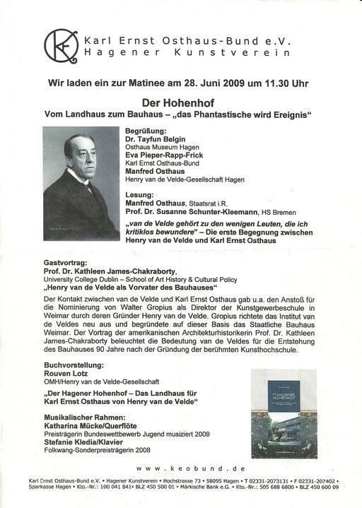 """50 Jahre """"Henry van de Velde- Gesellschaft 1"""