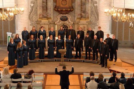 Das Vokalconsort beim Niedersächsischen Chorwettbewerb 2013 in Wolfenbüttel.
