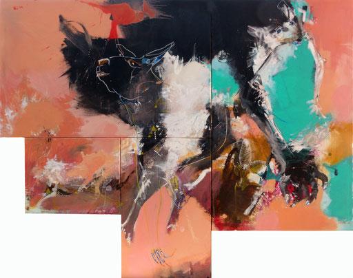 """""""Brain 2""""-Acrylique sur toile-Dim 122cm x 150cm"""