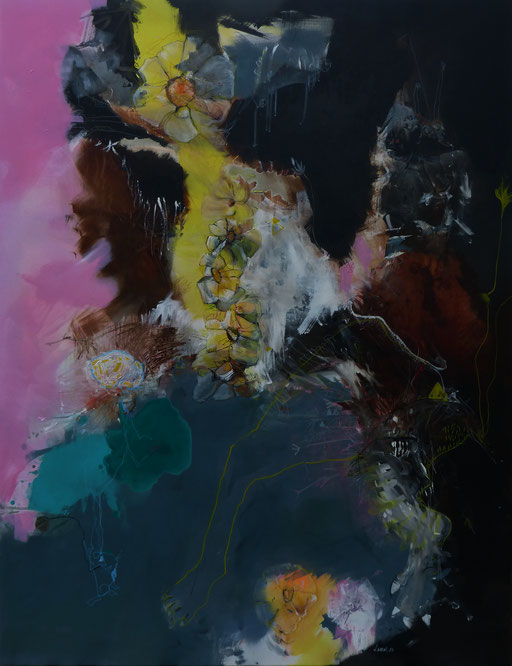 """""""Brain4""""- Acrylique sur toile-Dim 146cm x114cm"""