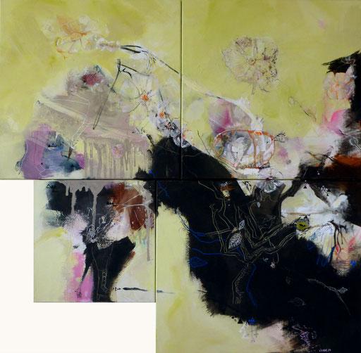 """""""Brain5"""" Acrylique sur toile Dim 117cmx120cm"""