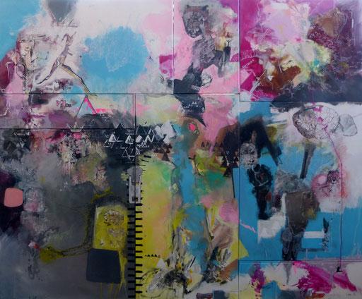 """""""Brain""""-Acrylique sur toile-Dim 177cmx215cm"""