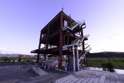 津波が襲い42人の犠牲者が出た南三陸町総合防災庁舎(宮城)
