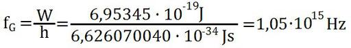 Beispiel zur Berechnung des Grenzeffekts beim Photoeffekt