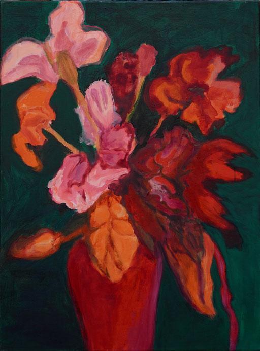 Bouquet rouge, 2018 Acryl auf Leinwand 80x60