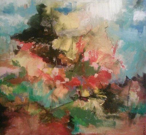 Sans titre-  Acrylique 75 x 75 cm -  Tous droits réservés@Sylvain Demers 2015   VENDU/sold