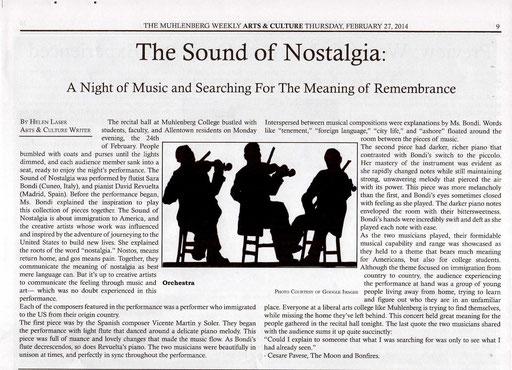 The Muhlenberg Weekly 27/02/2014