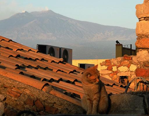 Sonnenaufgang am Ätna  Foto:Preller