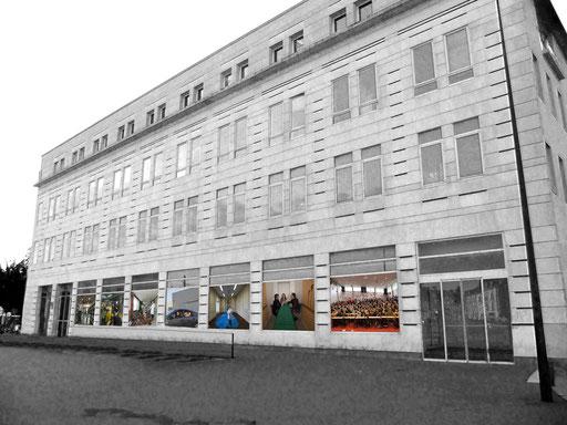 Photomontage - façade Faculté d'Odontologie - près Hôtel-Dieu, Nantes centre
