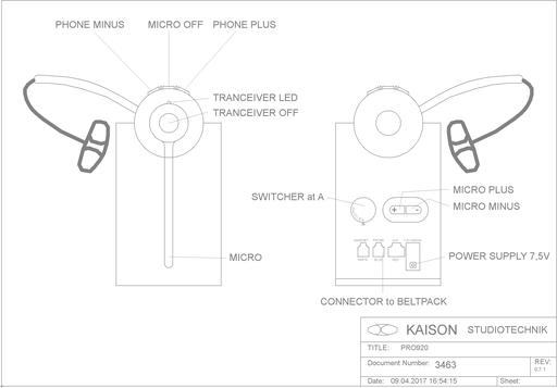 Wireless Headset PRO920-2