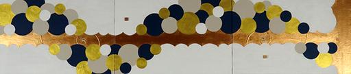 FLEUR DE MILLE  5    1230mm*273mm   P6*3   2020 acrylic on canvas, wood