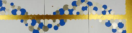 FLEUR DE MILLE  3    1590mm*410mm   P10*3   2020 acrylic on canvas, wood