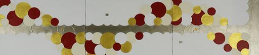FLEUR DE MILLE  4    1230mm*273mm   P6*3   2020 acrylic on canvas, wood
