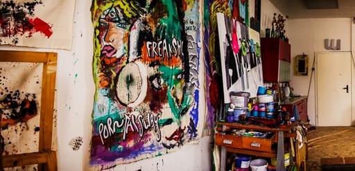 Atelier von Petro Steigolino - Street Art Künstler aus Leipzig