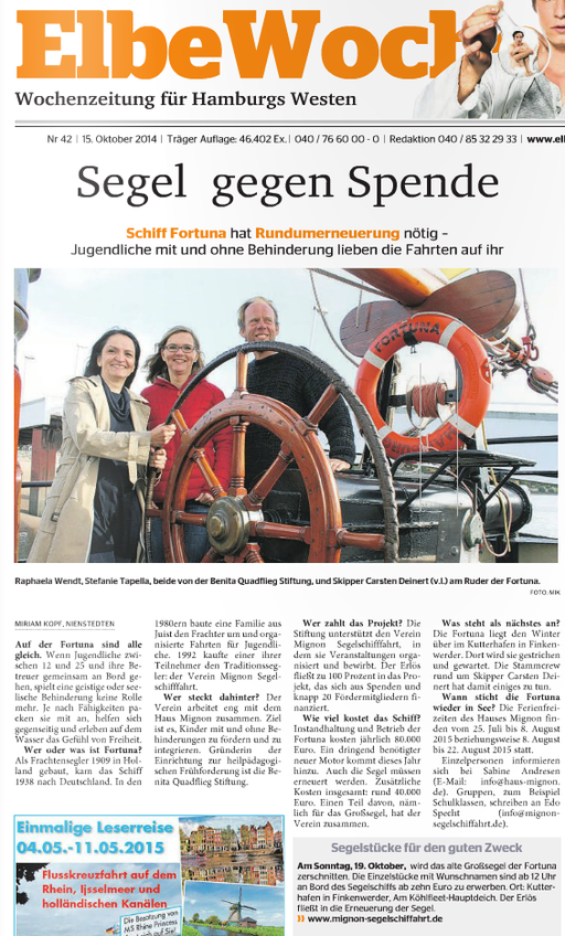 ElbeWochenblatt vom 15.10.2014