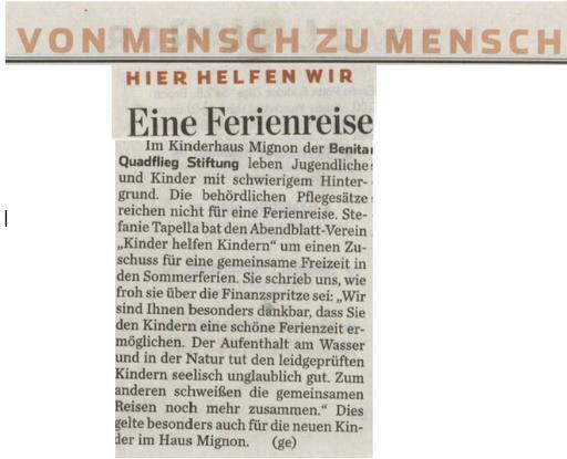 Hamburger Abendblatt vom 2.8.2014