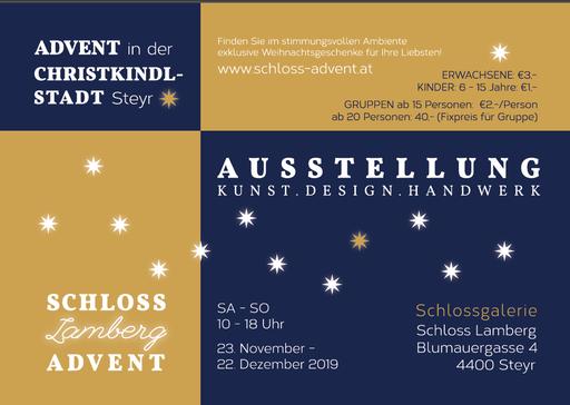 Weihnachtsausstellung Schloss Lamberg, www.schloss-advent.at, Beate Seckauer, Adventmarkt Steyr