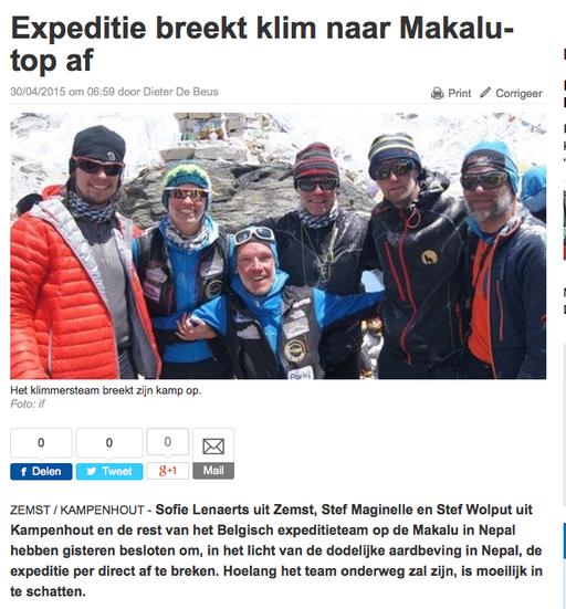 Het Nieuwsblad.be 30 april 2015
