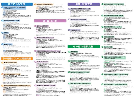 春日井 子供・若者支援機関マップ