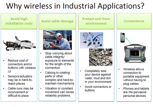 Reasons for using wireless in industrial applications