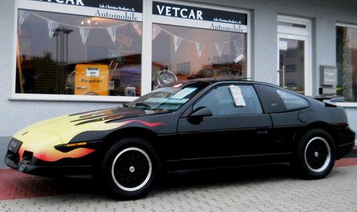 Pontiac Fiero GT 2.8i V6 Mittelmotor, G-Kat grüne Umweltplakette.Targa mit Klima u. Glasdach!
