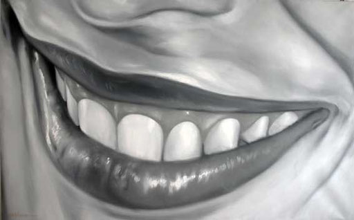 ELI's MOUTH, by A.Molino. Oil on canvas (200x125 cm), 2006. Private collection.
