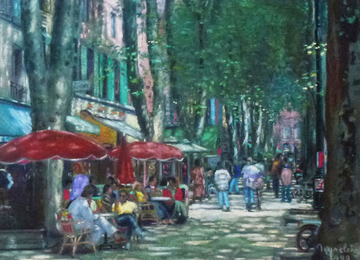 Aix, cours Mirabeau, fontaine