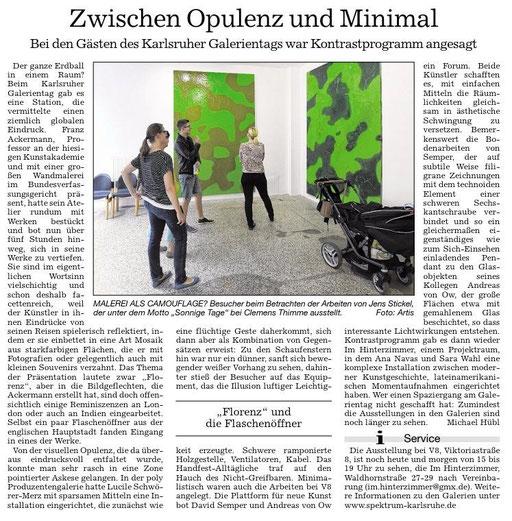 Lucile Schwörer-Merz, 2015  STOFF        in der Poly-Galerie Karlsruhe im Rahmen des Galerientag Karlsruhe.