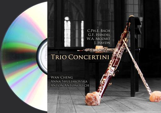 CD Trio Concertini. Anna Shuliakovska (Oboe), Wan Cheng (Floete), Anton Antonovych (Fagott)