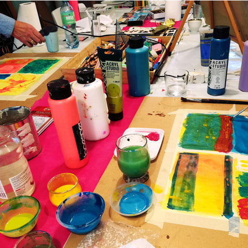 Atelier Rauschend Kunstschule Malschule Malerei Kunstworkshops Malerei Offenes Atelier rauschend Lohne Oldenburg