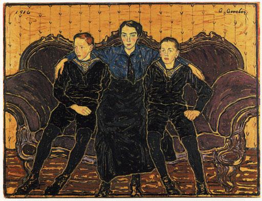 Die Geschwister Simms Herbert, Gertrud und Henry Albert Aereboe, 1916 Sammlung Klindwort