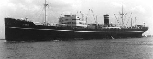 """Mit der """"Tudor"""", ist die Familie Simms 1937 nach Australien gereist"""